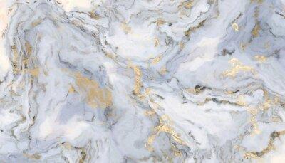 Naklejka White curly marble