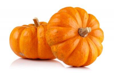 Naklejka Whole mini pumpkin isolated on white