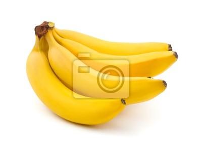 Naklejka Wiązka bananów na białym tle