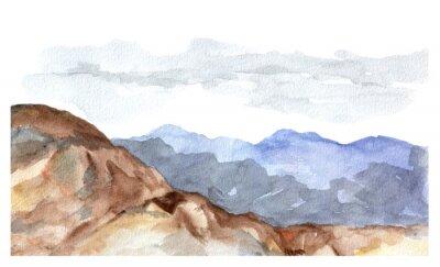 Naklejka Widok Akwarela z góry