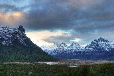 Naklejka Widok na góry w Ziemi Ognistej, Patagonia