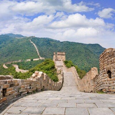 Naklejka Widok na słynny Wielki Mur, Pekin, Chiny