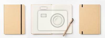 Naklejka Widok z góry notatnik, strona, ołówek