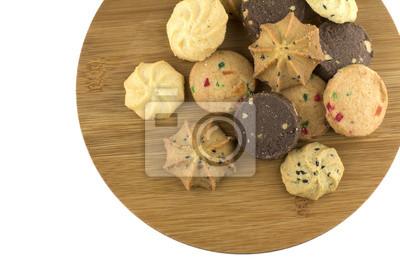 Naklejka Widok z góry z różnych plików cookie