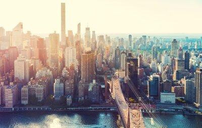 Naklejka Widok z lotu ptaka panoramę Nowego Jorku
