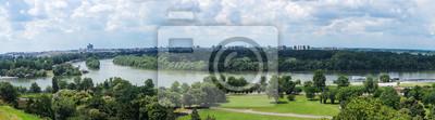 Naklejka Widok z parku Kalemegdan w Belgradzie, Serbia