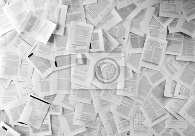 Naklejka Wiele dokumentów biznesowych