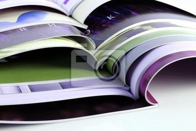 Naklejka Wiele magazynów kolorowych