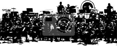 Naklejka wielka orkiestra