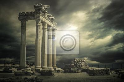Naklejka Wielka Świątynia Apollon @ Antalya