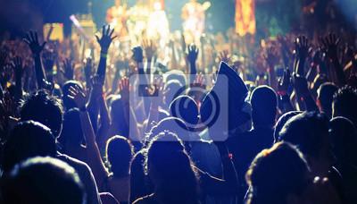 Naklejka wielki tłum ludzi na koncercie
