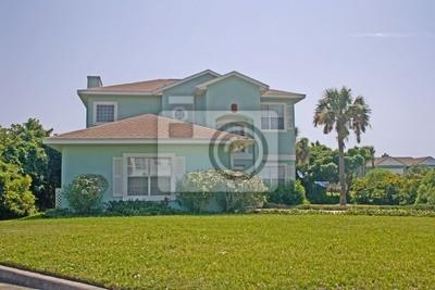 Naklejka Wielu historia przybrzeżnych życia domu na Florydzie