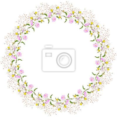 wieniec z polnych kwiatów