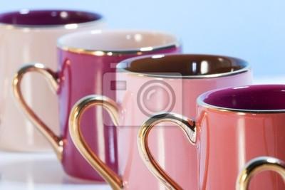 Wiersz Kolorowe Kubki Do Kawy Naklejki Redro