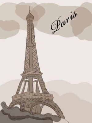 Naklejka wieża Eiffla