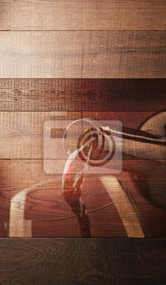 Wina degustacja drewnianego tła