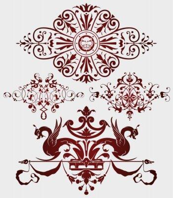 Naklejka Winiety w starożytnym stylu do dekoracji i projektowania