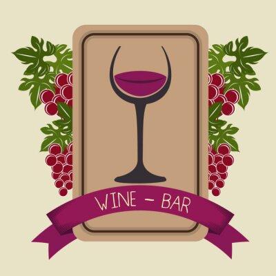 Naklejka Wino i pasek graficzny