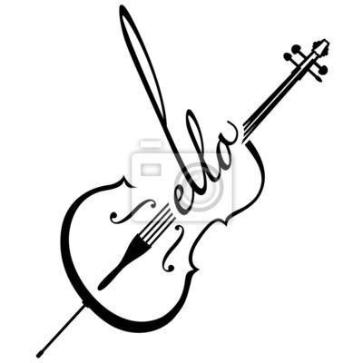 Naklejka Wiolonczela als Logotyp