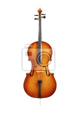 Naklejka wiolonczela samodzielnie na białym tle