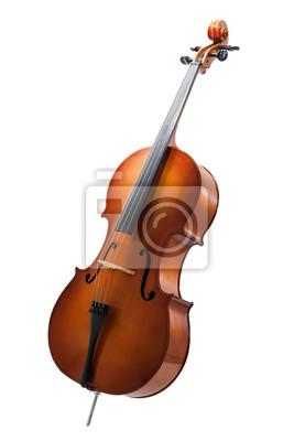 Naklejka wiolonczela samodzielnie na Wihte