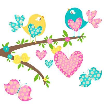 Naklejka Wiosną ptaki