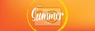 Naklejka Witam, projektowanie nagłówków czasu letniego dla bannera lub plakatu. Koncepcja imprezy letniej. Ilustracji wektorowych.