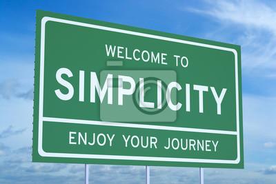 Naklejka Witamy Simplicity koncepcji