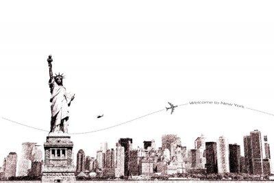 Naklejka Witamy w Nowym Jorku