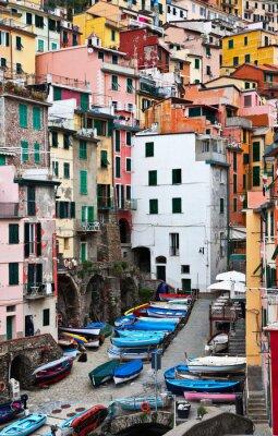 Naklejka Włochy. Riomaggiore. Park Narodowy Cinque Terre