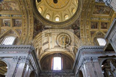 Wnętrza i szczegóły kościoła San Gregorio Armeno w Neapolu,