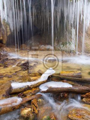 Wodospad i lód