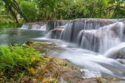Naklejka Wodospad w lesie deszczowym w parku narodowym