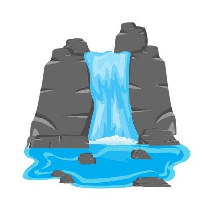 Naklejka Wodospad wśród kamienia