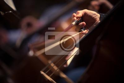 Naklejka Woman performing on a cello