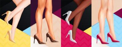 Naklejka Women Legs Shoes Banners