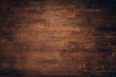 Naklejka Wooden dark brown grungy background