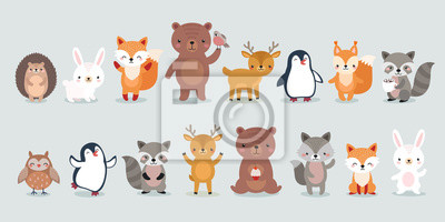 Naklejka woodland characters