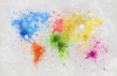 Naklejka world map malarstwo