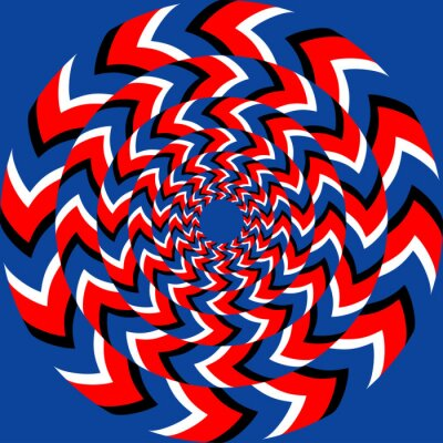Naklejka Wpływ rotacji z optycznym efektem iluzji