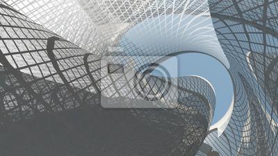 Naklejka Współczesna architektura