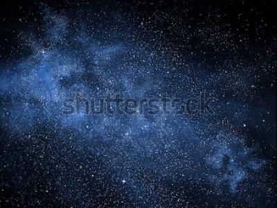 Naklejka Wszechświat pełen gwiazd, mgławic i galaktyk