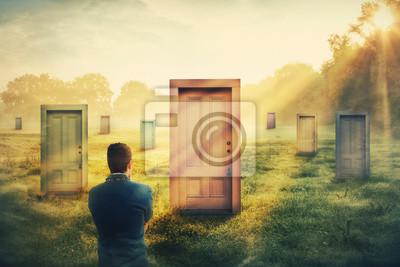 Naklejka wybór drzwi