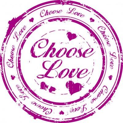 Naklejka wybrać miłość pieczęć