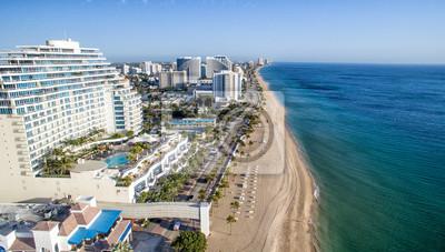 Naklejka Wybrzeża Fort Lauderdale, widok z lotu ptaka na Florydzie