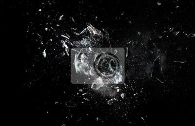Naklejka Wybuch szkła