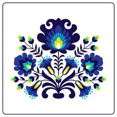 Naklejka Wycinanki ludowe - Kwiaty