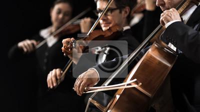 Naklejka Wydajność Orkiestra smyczkowa
