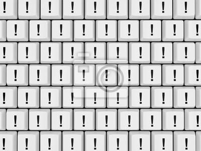 Naklejka Wykrzykniki Na Klawiaturze Na Wymiar Klucz Symbol