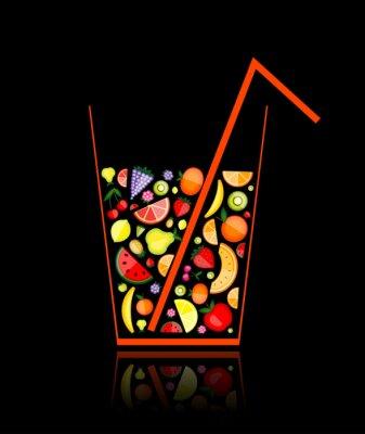 Naklejka Wymieszać z sokiem owocowym w szkle do projektowania